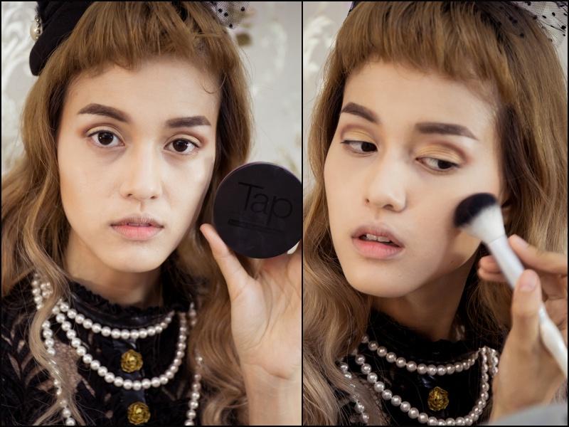 Make up Vintage สายฝ.แบบมาดามฝรั่งยุค40s ด้วย Cosluxe อายไลเนอร์ Monet 09